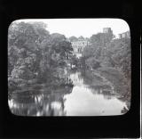 Warwick Castle, view from bridge over Avon