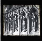 A row of live 'saints' in church arches