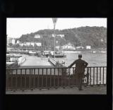 Bridge boats being moved, Koblenz