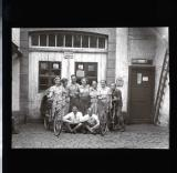Group of travellers at Eberbach