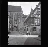 Oriel window by the church, Rothenburg