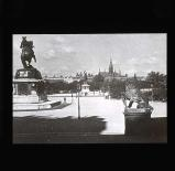 Statues in the Heldenplatz square, Vienna
