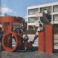 Extract from the cover of the 1972/3 undergraduate prospectus