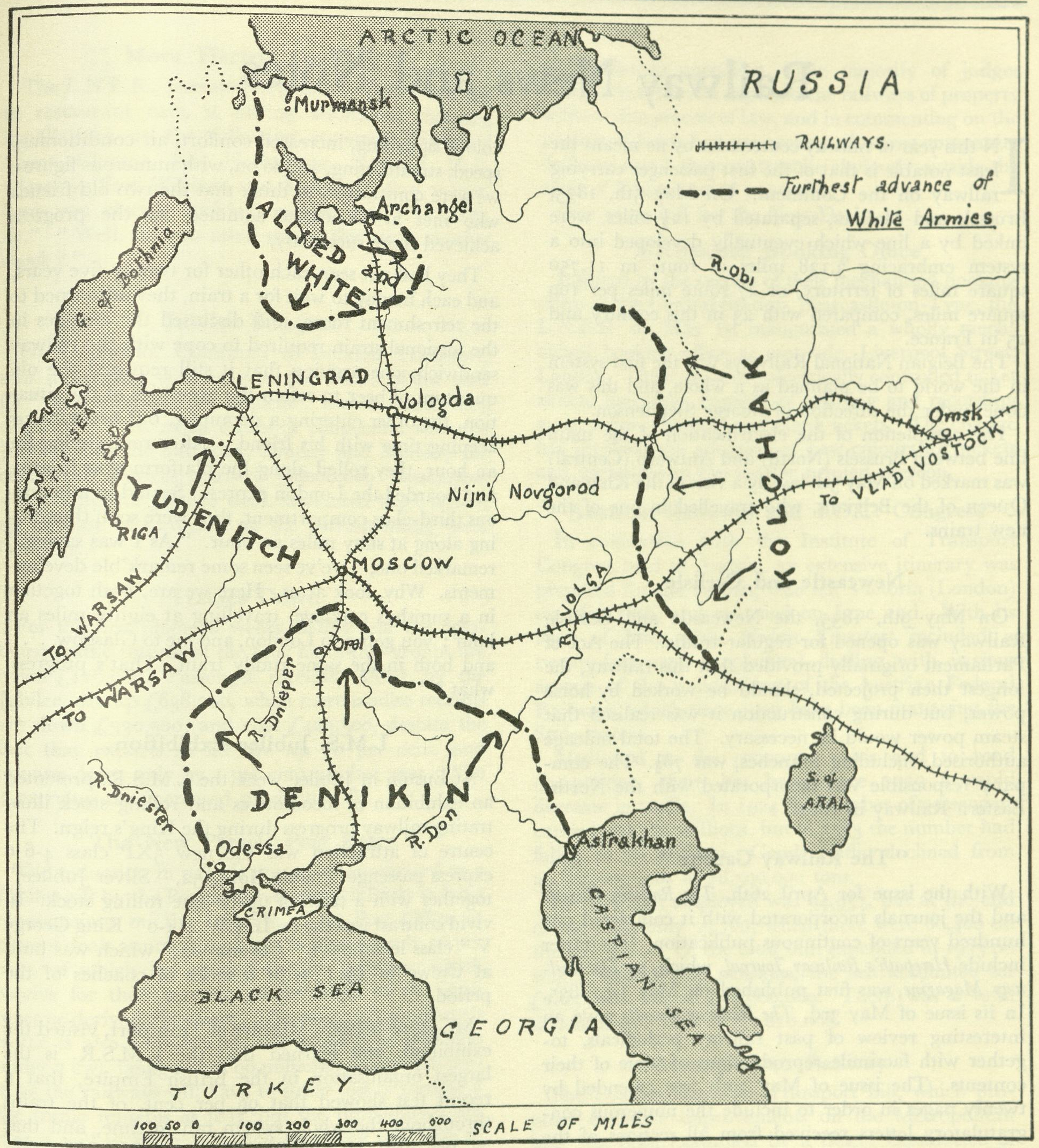 Russia Map 1917.Maps Of Russia And The Soviet Union Civil War And Polish Soviet War
