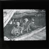 Turkoman women making a carpet