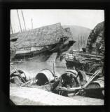 The port of Canton, closed in March 1926 by order of the Commissioner of Customs as a sequel to the strike. This picture shows some of the junk traffic laid up in the Pearl River.