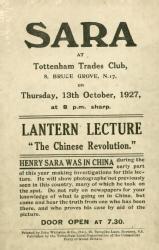 Leaflet for lantern lecture