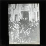 Léon Gambetta in his campaign