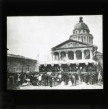 Enrolment of volunteers outside the Panthéon, Paris