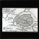 Map showing military positions around Paris and Versailles