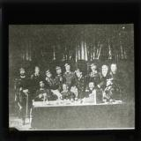 Altered photograph, showing members of the Commune and general officers