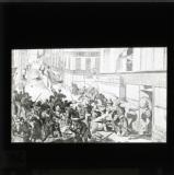 'A barricade at Neuilly' [illustration from 'My adventures in the Commune, Paris 1871' by Ernest Alfred Vizetelly]