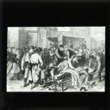 'Return of the wounded to Paris' [illustration from 'My adventures in the Commune, Paris 1871' by Ernest Alfred Vizetelly]