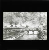 'Paris in flames' - The Tuileries on the left, the Cour des Comptes on the right [illustration from 'My adventures in the Commune, Paris 1871' by Ernest Alfred Vizetelly]