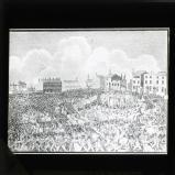 Engraving of the Peterloo massacre, 1819