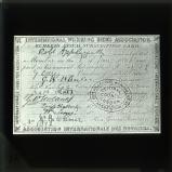 International Working Men's Association: 1865 membership card of the trade unionist Robert Applegarth