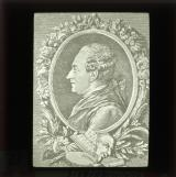 Pierre Augusti Caron de Beaumarchais (1732-99), dramatist and politician. Wrote Barber of Saville and Marriage of Figaro.