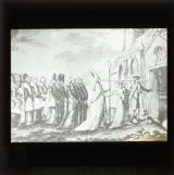 The last constitutional procession of the refractory priests, 'long noses'. A satire on the interment of the Civic Oath, Aug. 31st 1792