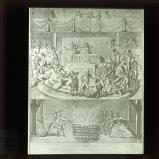 The powers threaten the national assembly with the terrors of war in 1792: a royalist caricature