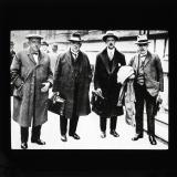 Herbert Smith, T. Richards, A.J. Cook and W.P. Richardson attending the Royal Commission on the Coal Industry, 1926