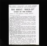 The Great 'Hold Up' leaflet