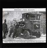 Police rescuing van