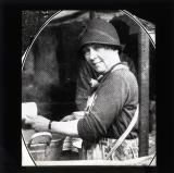 Washing Day. Mrs Laurie hard at work in the YMCA in Hyde Park. She is the wife of Lieutenant Colonel Laurie, head of the mounted branch of the Metropolitan Police.