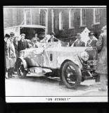 Lord Curzon's car on strike
