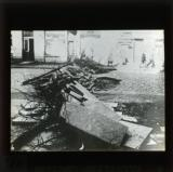 Paving stones as barricades in Hamburg, October 1923