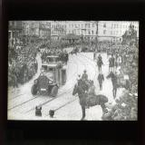 Troops and armoured cars entering Dresden, wiping out democratic government, October 1923