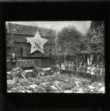 The graves of the dead Karl Liebknecht and Rosa Luxemburg