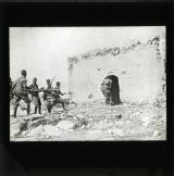 An incident in the Moroccan war. Spanish soldiers inspecting an outpost which has been abandoned by the Riffs during the Spanish advance.