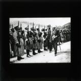 The French resident-General who did much to bring about Abdel Krim's surrender: M. Stegg inspecting General Mougin's native troops at the front