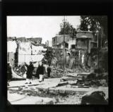 The French bombardment of Damascus: a scene of desolation in the historic city after the damaging fire caused by the French guns during the bombardment