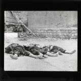 The riots at Damascus - bodies of rebels left lying in the streets after the fierce fighting