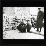 The French repulse the rioters with machine guns – a barricaded post in a Damascus street. Nov. 1925