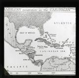American penetration in the Caribbean (Map)