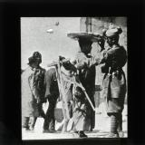 At the Jaffa gate a Sepoy searching an Arab for arms