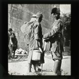 A Havildar examining two Arabs