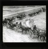 Mule carts: Convoy in the Kyber Pass. The Mahsuds, 1920.