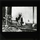 Spinning wheel in Indian village