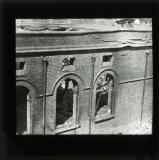 Back view of the bank building