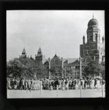 Meeting of native strikers in Bombay during the strike of mill operatives. January 1920