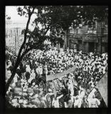The Indian National Congress. The passage of the President through the streets of Calcutta. 1920