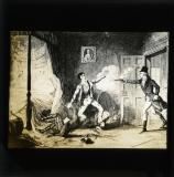 George Cruikshank cartoon from William Maxwell's History of the Irish rebellion in 1798 (published 1845): 'The arrest of Lord Edward FitzGerald'