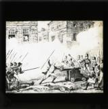 George Cruikshank cartoon from William Maxwell's History of the Irish rebellion in 1798 (published 1845): 'Battle of Ross'