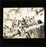 George Cruikshank cartoon from William Maxwell's History of the Irish rebellion in 1798 (published 1845): 'The capture of Colclough Harvey'