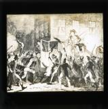George Cruikshank cartoon from William Maxwell's History of the Irish rebellion in 1798 (published 1845): 'The murder of Lord Kilwarden'