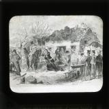 19th century illustration showing forced eviction of tenants