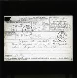 Telegram reporting the shooting of the Royal Irish Constabulary Sergeant Patrick Fallon in November 1920 at Ballymote, Co. Sligo